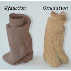 Terre à grès roux Aragon GECH 30 chamottée 0-0,5mm, pain 12.5kg