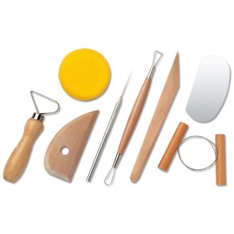 Set 8 outils pour poterie et modelage