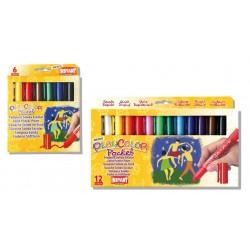 Sticks gouache solide Playcolor Pocket, étui couleurs assorties