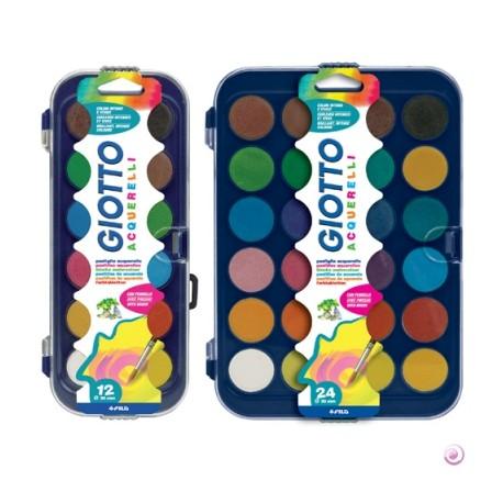 Boite pastilles de gouache ø30mm Giotto