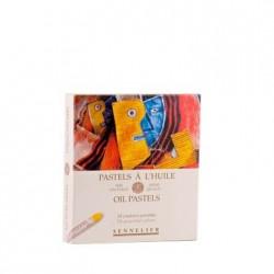 Coffret en carton 24 pastels à l'huile - Initiation - Sennelier