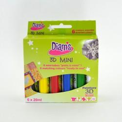 Mini-kits peinture tous supports Diam's 3D - 6x 20ml