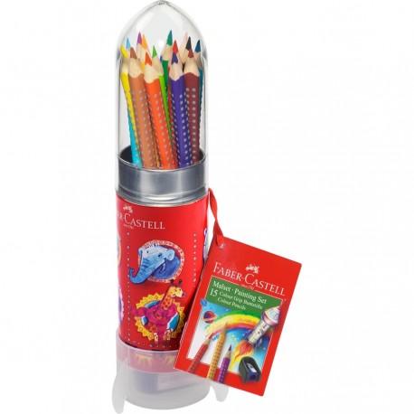 Set Fusée 15 crayons Color Grip pour peindre et dessiner