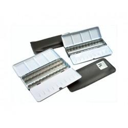 Boîtes vides en métal pour aquarelle + fourreau