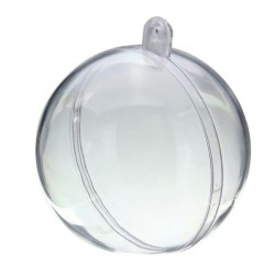 Boules en plastique transparent 2 parties