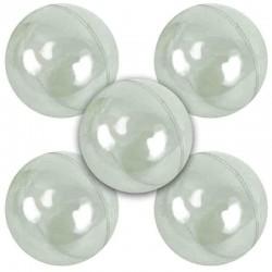 Lots de 5 boules en plastique cristal