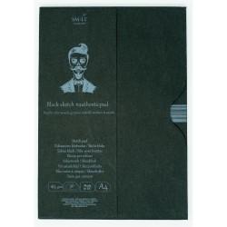 Bloc avec étui dessin noir SM.LT - 165g/m²