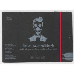 Carnet à dessin noir SM.LT - 165g/m²