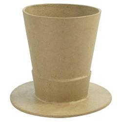 Vase chapeau en papier mâché