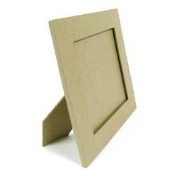 Cadre rectangle plat 23x28cm en papier mâché