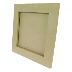 Cadre carré plat 11x11cm en papier mâché