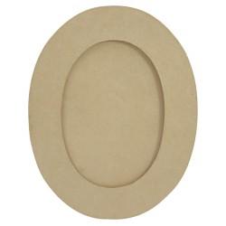 Cadre ovale M en papier mâché