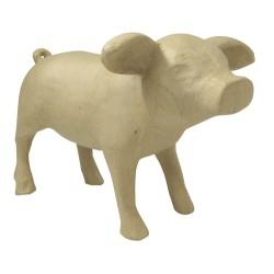 Bébé cochon en papier mâché