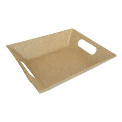 Petit plateau moderne en papier maché - 10x12x2.7cm
