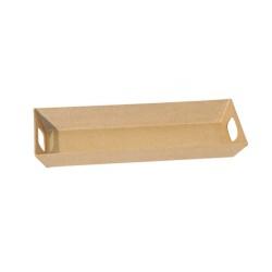 Plateau rectangulaire en carton - 26x11x2.7cm