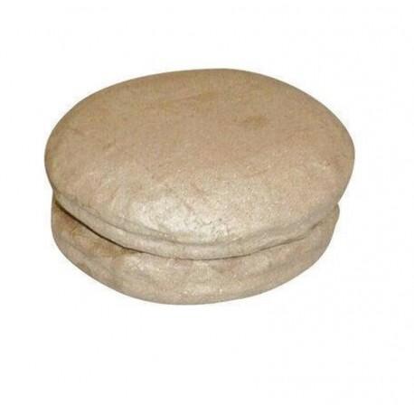 Set 2 macarons en papier maché - 8x8x4cm