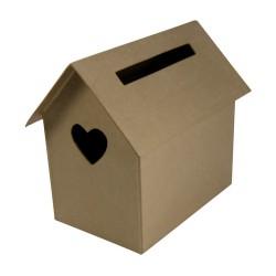 Urne Maison en papier maché - 280x190x240mm