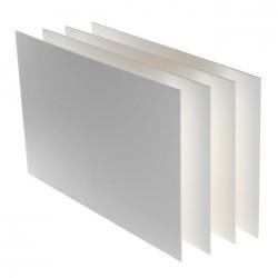 Lots de 4 cartons mousse blanc, plaque 50x65cm