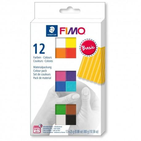 Coffrets demi-pains pâte Fimo Soft 25g - Couleurs Basic