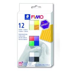 Coffrets demi-pains pâte Fimo Soft 25g - Couleurs à effets