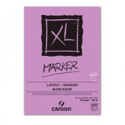 Bloc papier XL Marker 70g/m², 100 fls collées