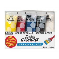 Set gouache fine Studio 5x 100ml