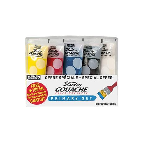 Set gouache fine Studio 5x 100ml