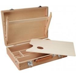 Coffret mallette en hêtre - 26x37,5x8,5cm